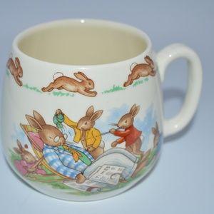 Bunnykins Rouyal Doulton Mug Bothering Grandpa